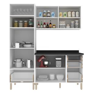 Cozinha Completa 4 peças Americana Multimóveis 5900 Branco/Grafite