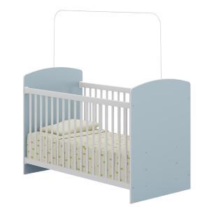 Quarto Infantil completo João e Maria Multimóveis Branco/Azul com Berço + Guarda roupas + cômoda