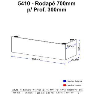 Rodapé Multimóveis Calábria para Paneleiro 5410 Nogueira