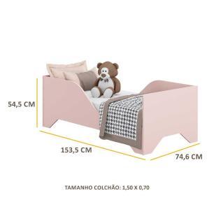 Mini Cama Multimóveis Soninho 100% MDF para colchão 150cmx70cm Rosa REF.2668.157