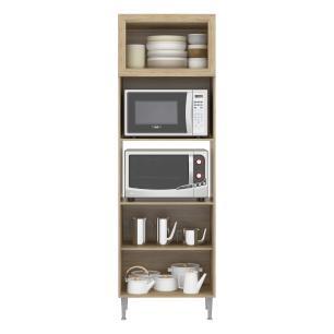 Paneleiro para dois fornos Torre-quente Multimóveis Toscana 5020 Argila/branco com 2 Portas e 1 Basculante
