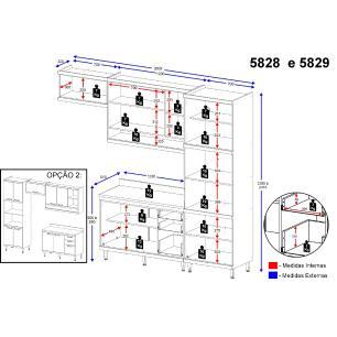 Cozinha Completa Multimóveis com 5 peças Sicília 5829 Argila/Argila