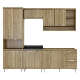 Cozinha Completa Multimóveis com 5 peças Sicília 5808 Argila/Argila