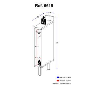 Balcão Multimóveis Nevada 15cm Porta Toalhas Branco REF.5615.156TP