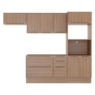 Cozinha Completa Multimóveis com 6  peças Calábria 5457R Nogueira