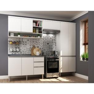 Cozinha Completa com 4 peças Suíça Multimóveis Branco
