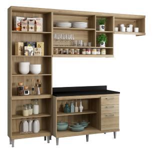 Cozinha Completa Multimóveis com 5 peças Sicília 5841 Argila/Branco