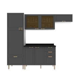 Cozinha Completa 5 peças Americana Multimóveis 5688 Branco/Grafite