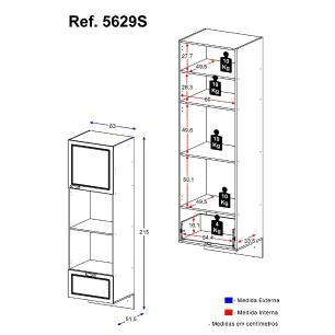 Paneleiro  Multimóveis Nevada para Forno e Microondas Suspenso Branco REF.5629S.156