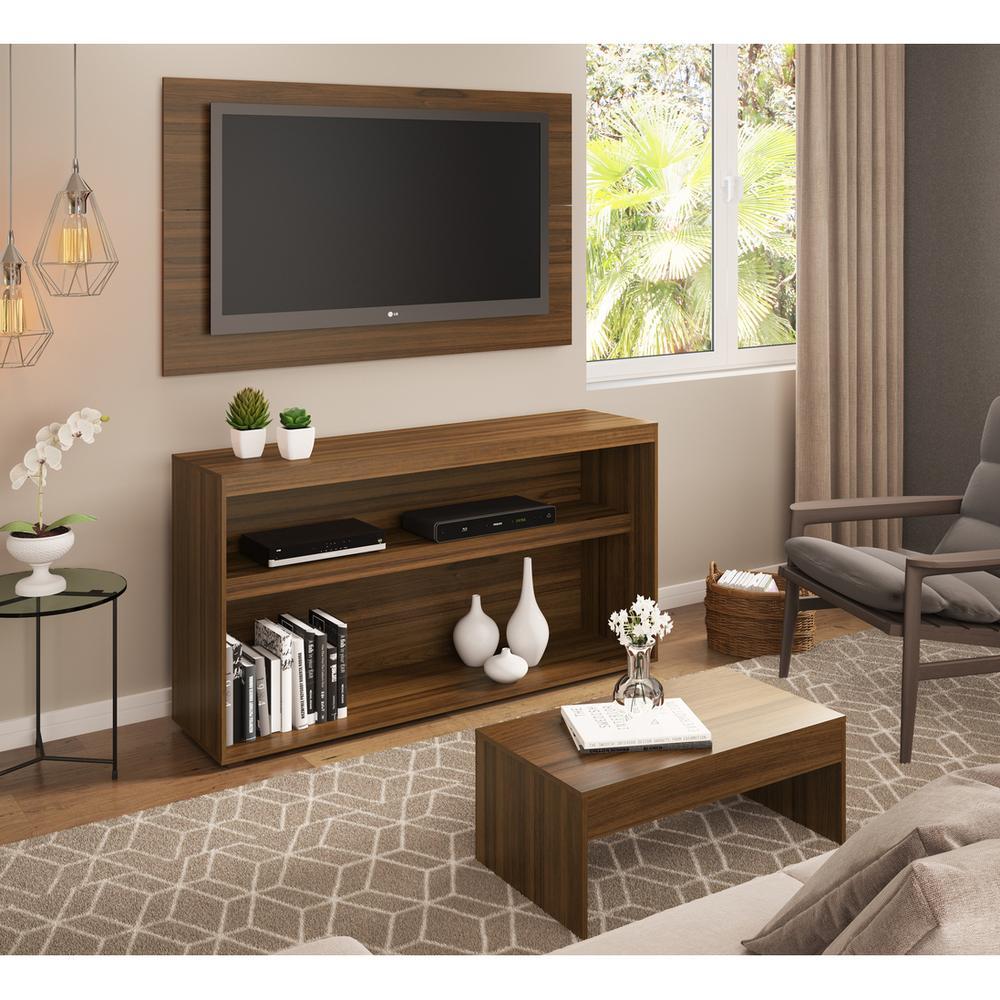 Rack c/Painel TV até 50 Pol.Mesa de apoio Atualle Multimóveis Duna Texturizado REF. 2839