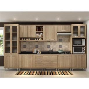 Cozinha Completa Multimóveis com 9 peças Sicília 5807 Argila/Argila