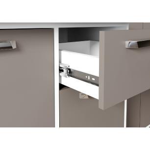 Cozinha Compacta Xangai 9 Portas Multimóveis Branco/Laca Fumê