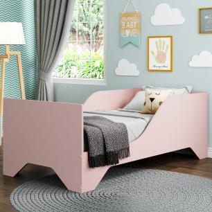 Cama Infantil com Colchão Incluso 70 x 150 cm 100% MDF Pirulito Multimóveis Rosa