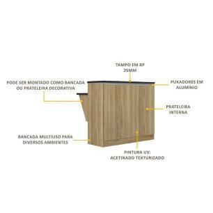 Bancada Multimóveis Sicília Divisor de Ambiente 5324 Argila