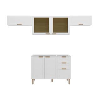 Cozinha Completa 4 peças Americana Multimóveis 5693 Branco