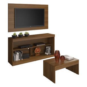 Rack com painel para TV até 55 polegadas e mesa de centro Dublin Multimóveis Duna