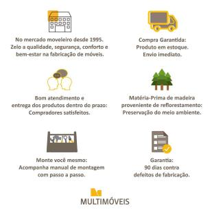Cozinha Completa Compacta com Armário e Balcão com Tampo Coimbra Multimóveis Nogueira/Branco