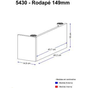 Rodapé Multimóveis Calábria 15cm 5430 Nogueira
