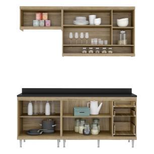 Cozinha Completa Multimóveis com 5 peças Sicília 5811 Argila/Argila