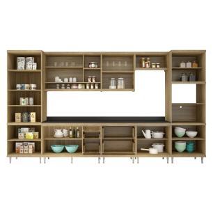 Cozinha Completa Multimóveis com 9 peças Sicília 5807 Argila/Grafite