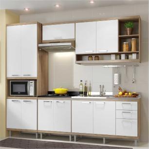 Cozinha Completa Multimóveis com 5 peças Sicília 5808 Argila/Branco