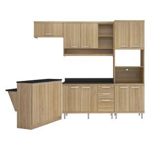 Cozinha Completa Multimóveis com 8 peças Sicília 5844 Argila/Argila