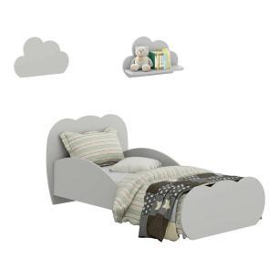 Minicama Nuvem com 2 Prateleiras Nuvem Multimóveis Cinza REF. 2817.160