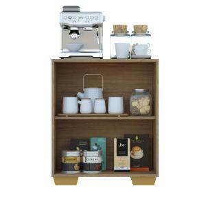 Aparador Cantinho do Café com Pés Quadrados e 2 Portas Multimóveis Rustic/Natural