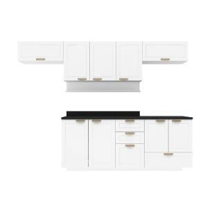Cozinha Completa 7 peças Americana Multimóveis 5668S Branco