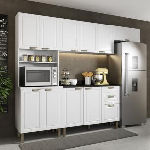 Cozinha Completa 5 peças Americana Multimóveis 5694 Branco