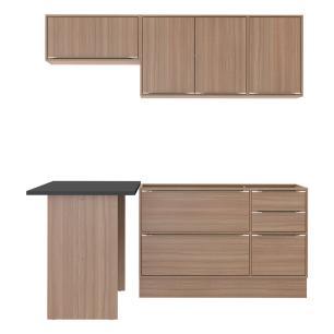 Cozinha Completa Multimóveis com 5 peças Calábria 5460R Nogueira