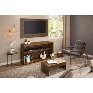 Rack com painel para TV até 50 polegadas e mesa de centro Bragança Multimóveis Duna