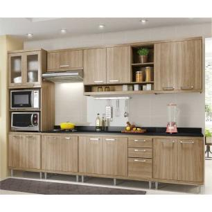 Cozinha Completa Multimóveis com 8 peças Sicília 5835 Argila/Argila
