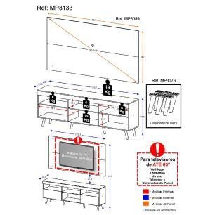 Rack c/ Painel P/TV até 65