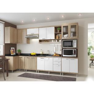 Cozinha Completa Multimóveis com 7 peças Sicília 5830 Argila/Branco