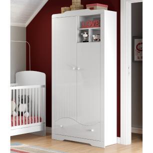 Guarda Roupa de Bebê 2 Portas 1 Gavetas com nicho Pingo de Leite - Multimóveis REF. 2351