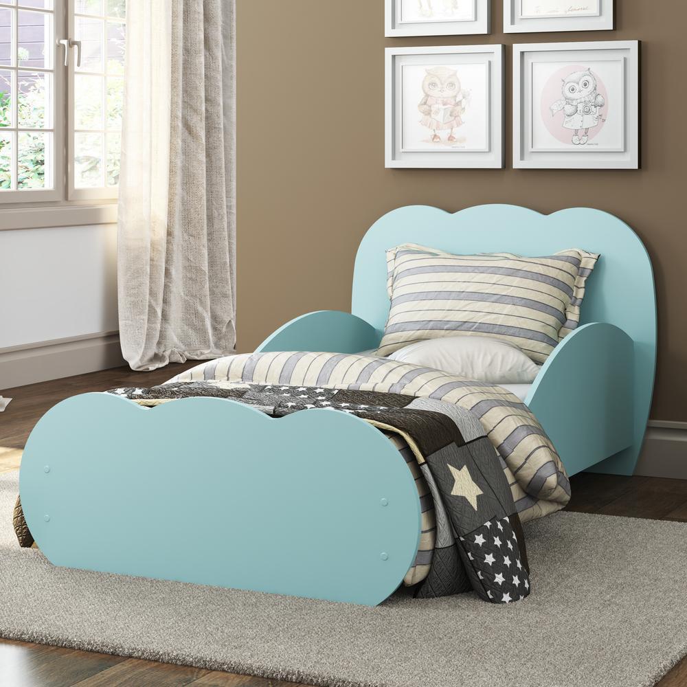 Mini Cama Algodão Doce com colchão 150cmx70cm 100% MDF Multimóveis Azul