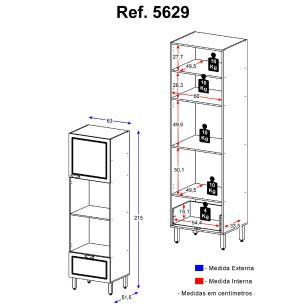 Paneleiro  Multimóveis Nevada para Forno e Microondas Branco REF.5629.156
