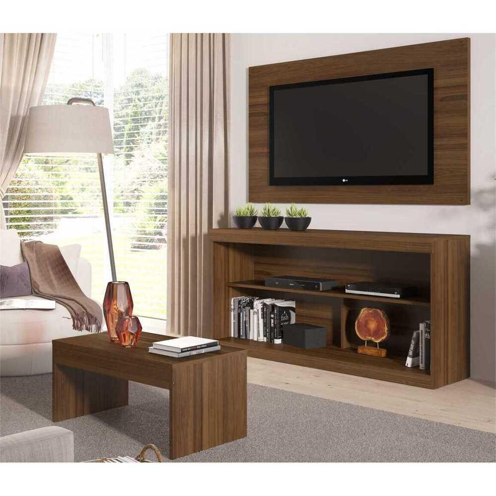 Rack c/Painel TV até 47 Pol Mesa Centro Inovare Multimóveis Duna Acetinado Texturizado