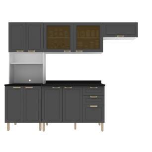 Cozinha Completa 5 peças Americana Multimóveis 5676 Branco/Grafite