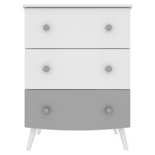 Quarto Completo Doçura com escrivaninha 100% MDF Multimóveis Branco/cinza