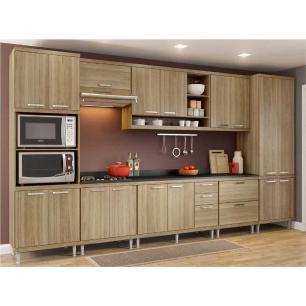 Cozinha Completa Multimóveis com 9 peças Sicília 5833 Argila/Argila
