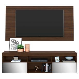 Painel TV até 65 polegadas com Rack Suspenso e Espelho Flórida Multimóveis Duna