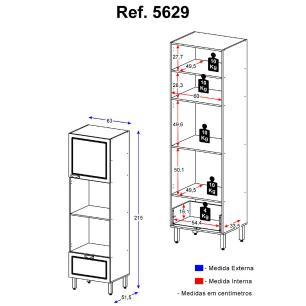 Paneleiro  Multimóveis Nevada para Forno e Microondas REF.5629.971