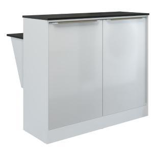 Bancada Balcão com prateleira/Divisor de ambientes Multimóveis 5484 Branca
