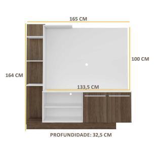 Estante Home Theater P/TV até 55 Pol. Denver Multimóveis  Argila Acetinado com Branco Texturizado