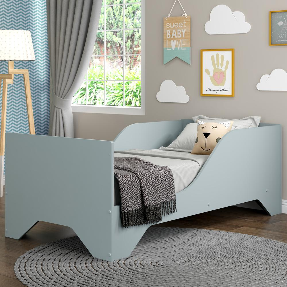 Cama Infantil com Colchão Incluso 70 x 150 cm 100% MDF Pirulito Multimóveis Azul