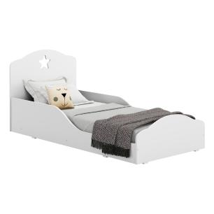 Cama Infantil Montessoriana c/ Barras de Proteção para colchão 70 x 150 cm Star Multimóveis Branca