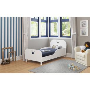 Cama Infantil para colchão 70 x 150 cm 100% MDF Rei/Rainha Multimóveis Branca