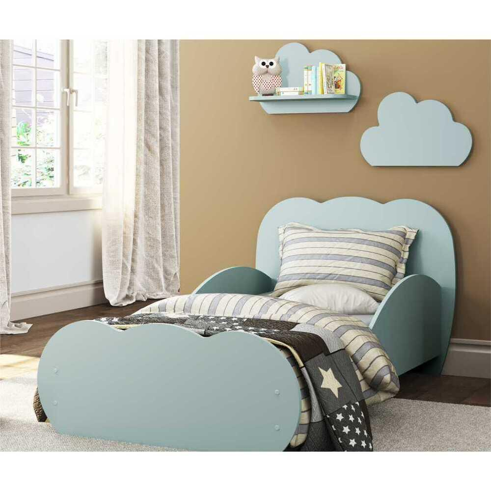 Minicama Nuvem com 2 Prateleiras Nuvem Multimóveis Azul REF. 2817.158